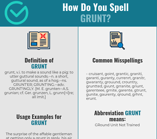 Correct spelling for grunt