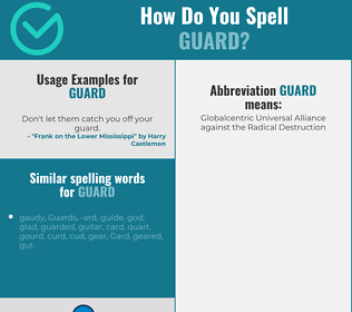 Correct spelling for guard