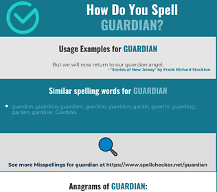 Correct spelling for guardian