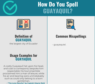 Correct spelling for guayaquil