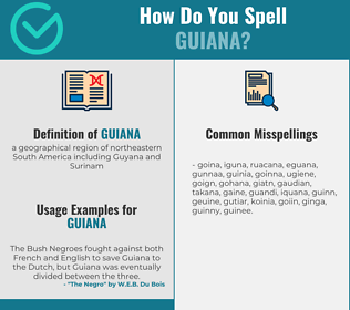 Correct spelling for guiana