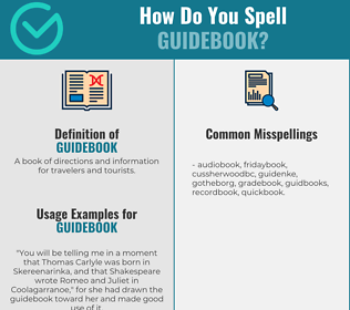 Correct spelling for guidebook