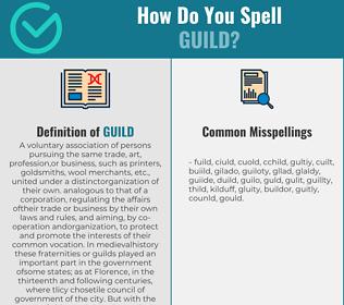 Correct spelling for guild