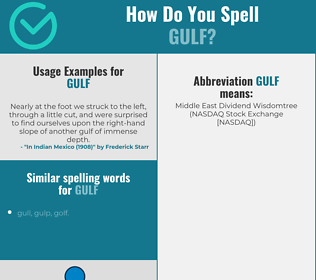 Correct spelling for gulf