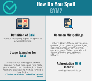 Correct spelling for gym