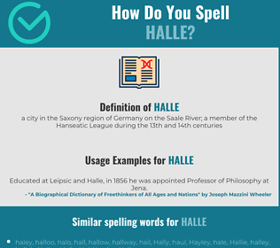 Correct spelling for halle