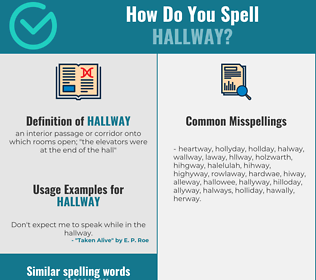 Correct spelling for hallway