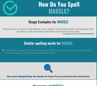 Correct spelling for hassle