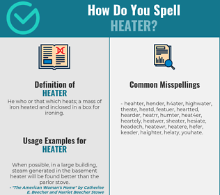 Correct spelling for heater