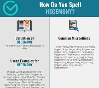 Correct spelling for hegemony