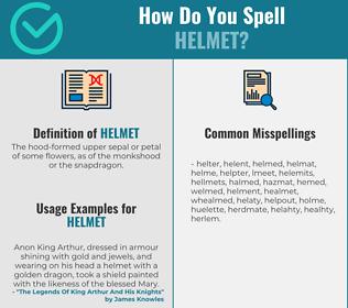 Correct spelling for helmet