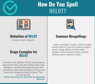Correct spelling for helot