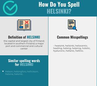 Correct spelling for helsinki