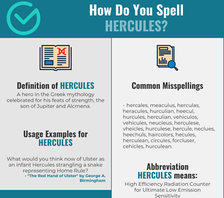 Correct spelling for hercules