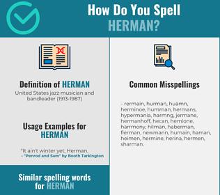 Correct spelling for herman