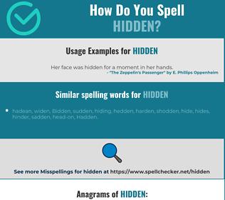 Correct spelling for hidden
