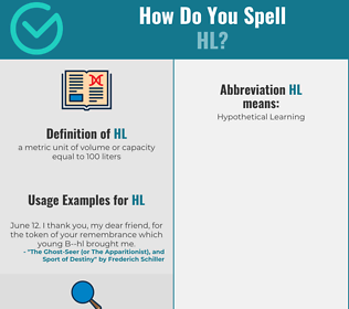 Correct spelling for hl