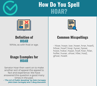Correct spelling for hoar