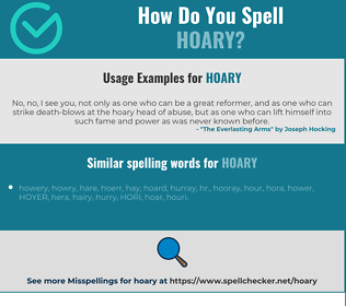 Correct spelling for hoary