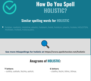 Correct spelling for holistic