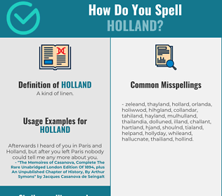 Correct spelling for holland