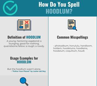 Correct spelling for hoodlum