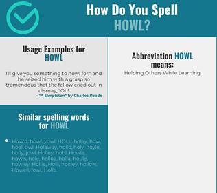Correct spelling for howl
