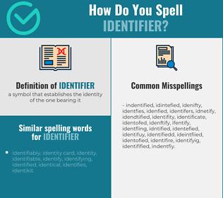 Correct spelling for identifier
