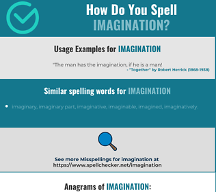 Correct spelling for imagination