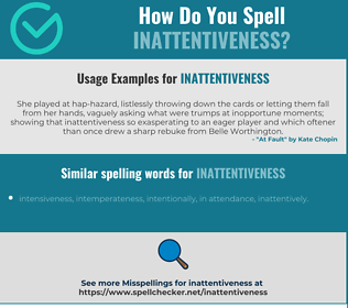 Correct spelling for inattentiveness