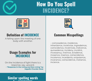 Correct spelling for incidence