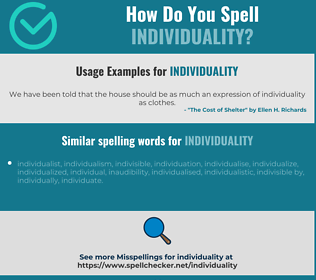 Correct spelling for individuality