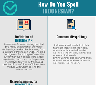 Correct spelling for indonesian