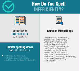 Correct spelling for inefficiently
