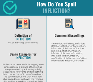 Correct spelling for infliction