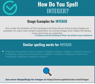 Correct spelling for integer