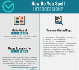 Correct spelling for intercession
