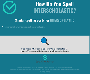 Correct spelling for interscholastic