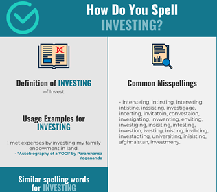 Correct spelling for investing