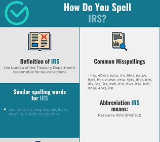 Correct spelling for irs