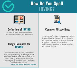 Correct spelling for irving