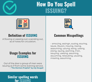 Correct spelling for issuing
