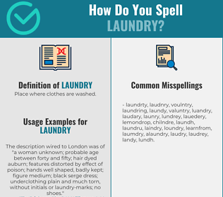 Correct spelling for laundry