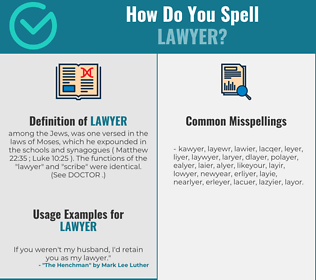 Correct spelling for lawyer