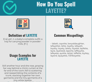 Correct spelling for layette