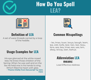 Correct spelling for lea