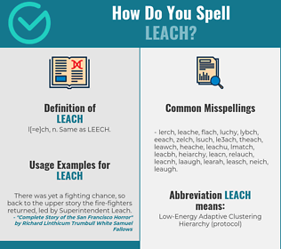 Correct spelling for leach