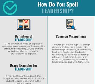 Correct spelling for leadership