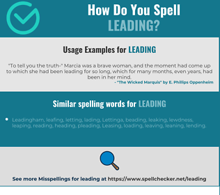 Correct spelling for leading