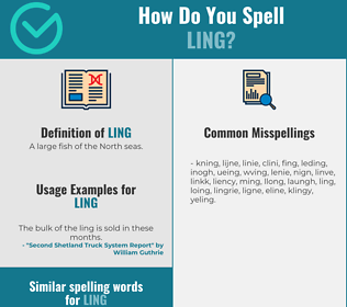 Correct spelling for ling